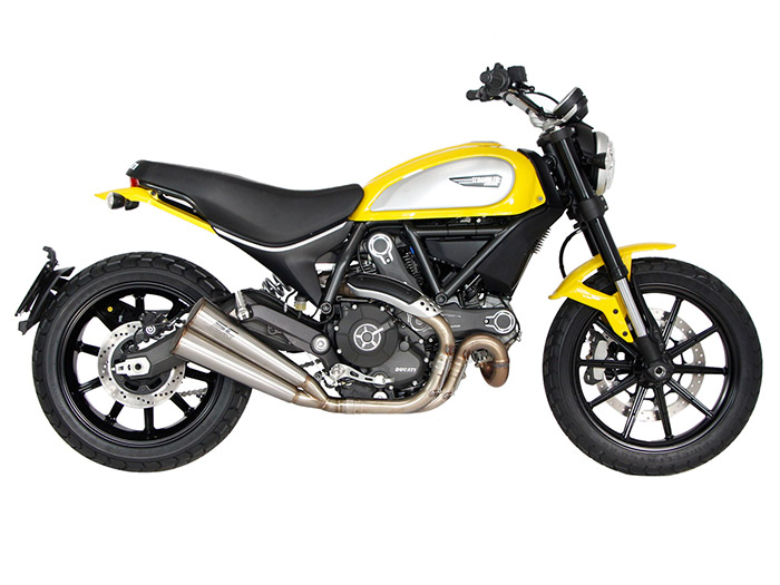 ducati scrambler icon silenziatori sc project twin conic